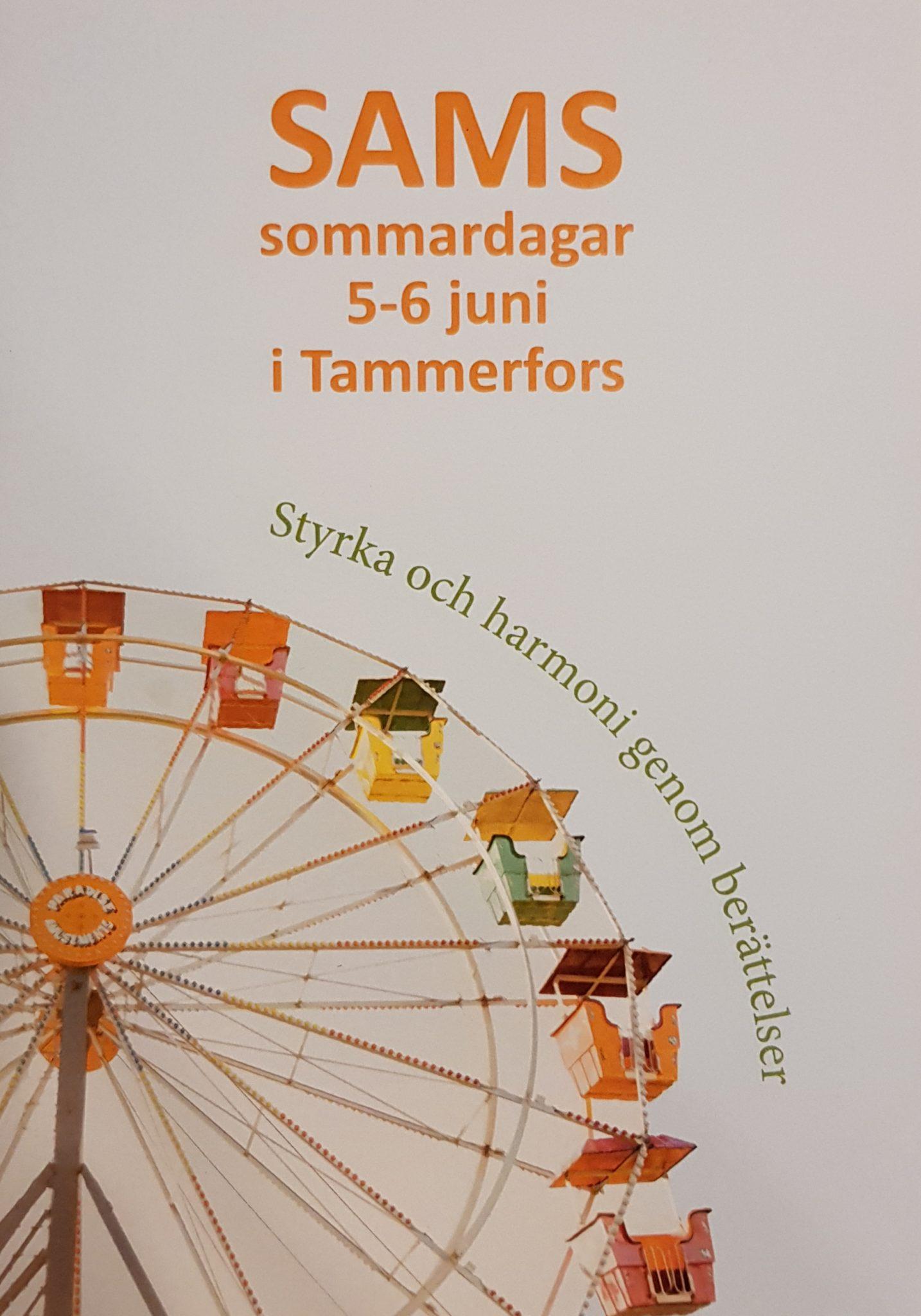 SAMS sommardagar 5-6 juni i Tammerfors